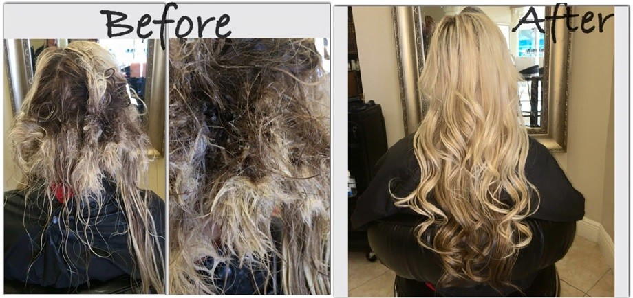 Before after photos hair extensions after snorkelling with hair in a braid pmusecretfo Gallery