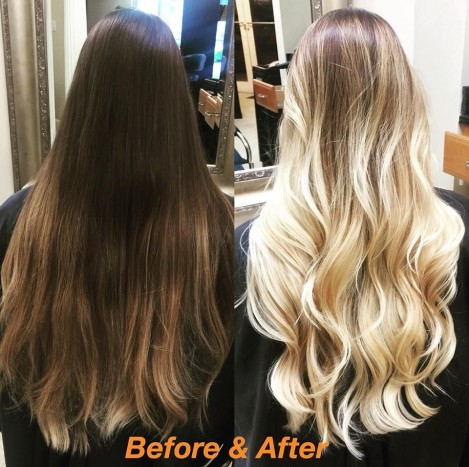 Honey-Blonde-Balayage---Before-and-After by Puspa